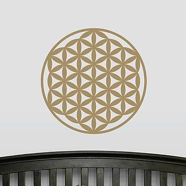 Wallums Wall Decor Flower of Life Wall Decal; Gold Metallic