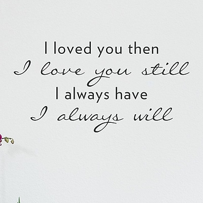 Wallums Wall Decor Loved You Then I Love You Still Wall Decal; Black