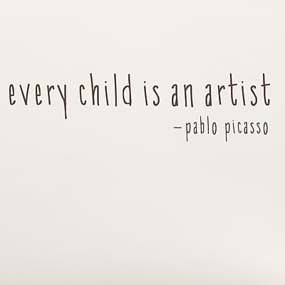 Wallums Wall Decor Every Child Is An Artist Wall Decal; Chocolate Brown