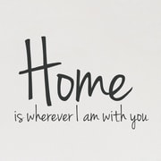 Wallums Wall Decor Home is Wherever I Am w/ You Wall Decal; Black