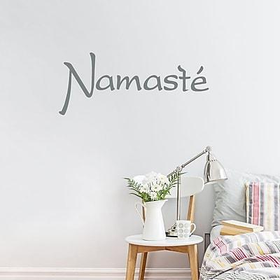 Wallums Wall Decor Namaste Wall Decal; Gray