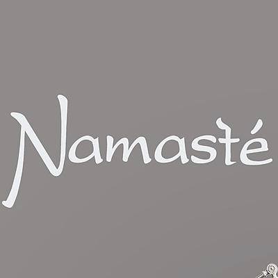 Wallums Wall Decor Namaste Wall Decal; White