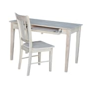 August Grove Clementine Writing Desk and Chair Set; Unfinished