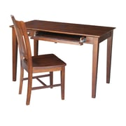 August Grove Clementine Writing Desk and Chair Set; Espresso