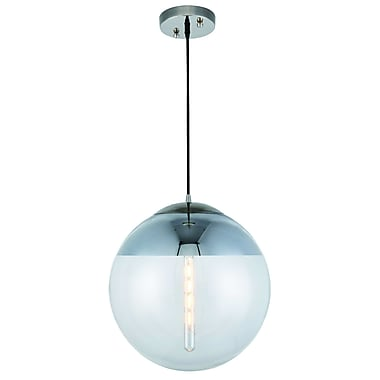 Brayden Studio Simeone 1-Light LED Globe Pendant; 60'' H x 16'' W x 16'' D