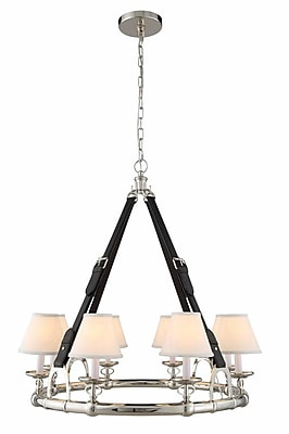 Darby Home Co Slater 31-Light Shaded Chandelier; Polished Nickel
