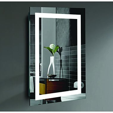 Willa Arlo Interiors Rectangle LED Lighted Wall Mirror; 24'' H x 20'' W x 2'' D