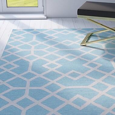 Willa Arlo Interiors Pero Hand-Tufted Blue Area Rug; Runner 2'6'' x 8'