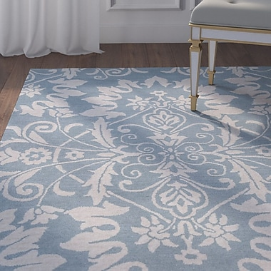Willa Arlo Interiors Doss Hand-Tufted Light Blue Area Rug; Runner 2'6'' x 8'