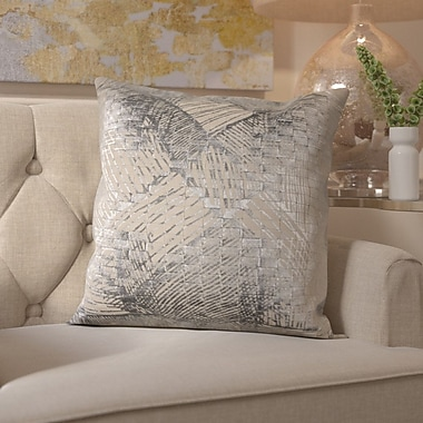 Willa Arlo Interiors Downham Cotton Throw Pillow; Silver