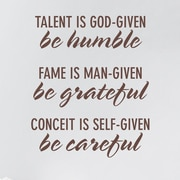 Wallums Wall Decor Be Humble Be Grateful Be Careful Wall Decal; Chocolate Brown