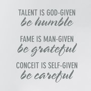 Wallums Wall Decor Be Humble Be Grateful Be Careful Wall Decal; Gray