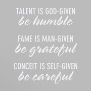 Wallums Wall Decor Be Humble Be Grateful Be Careful Wall Decal; White