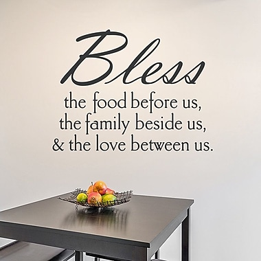 Wallums Wall Decor Bless The Food Wall Decal; Black