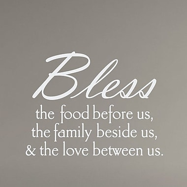 Wallums Wall Decor Bless The Food Wall Decal; White
