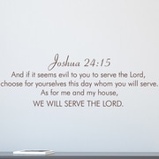 Wallums Wall Decor Joshua 24:15 Wall Quote Wall Decal; Chocolate Brown