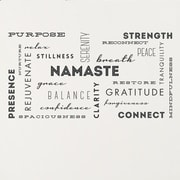 Wallums Wall Decor Yoga Words Wall Decal; Black