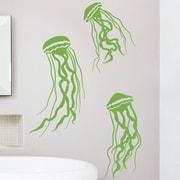 Wallums Wall Decor Jelly Fish Wall Decal; Lime Green