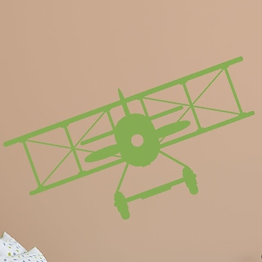 Wallums Wall Decor Vintage Plane Wall Decal; Lime Green