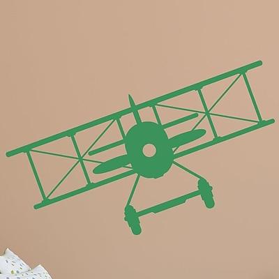 Wallums Wall Decor Vintage Plane Wall Decal; Green