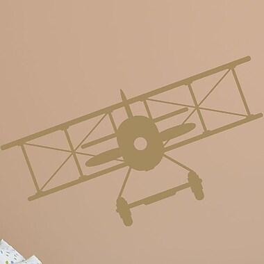 Wallums Wall Decor Vintage Plane Wall Decal; Gold Metallic