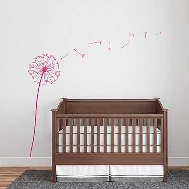 Wallums Wall Decor Dandelion Wall Decal; Pink