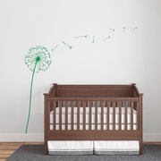 Wallums Wall Decor Dandelion Wall Decal; Green