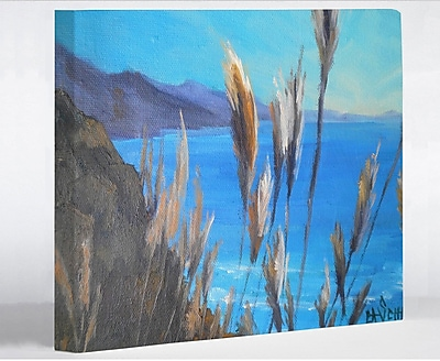 Highland Dunes 'PCH View' Painting Print on Wrapped Canvas; 11'' H x 14'' W x 1.5'' D
