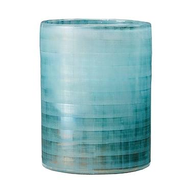 Highland Dunes Blue Frost Table Vase; 9.45'' H x 7.09'' W x 7.09'' D