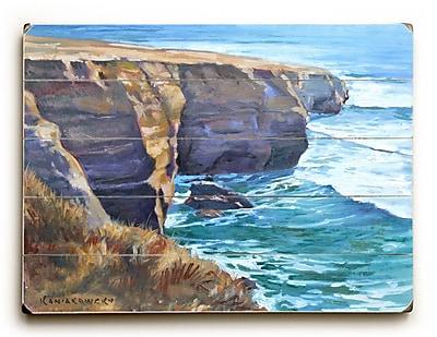 Highland Dunes Sunset Cliffs Painting Print on Plaque; 25'' H x 34'' W