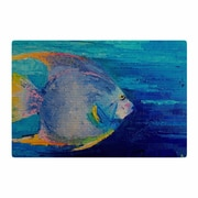 East Urban Home Carol Schiff Tropical Fish II Painting Blue/Pink Area Rug; 2' x 3'