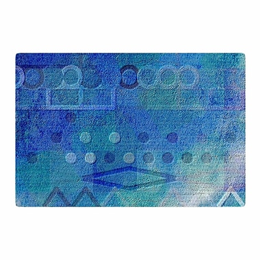 East Urban Home Mimulux Patricia No Hieroglyphic Digital Abstract Blue Area Rug; 2' x 3'