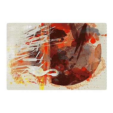 East Urban Home Frederic Levy-Hadida Moon Painted w/ Tea Digital Beige/Orange Area Rug; 2' x 3'