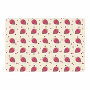 East Urban Home Afe Images Chocolate Strawberries Pattern Red/Pink Digital Area Rug; 4' x 6'