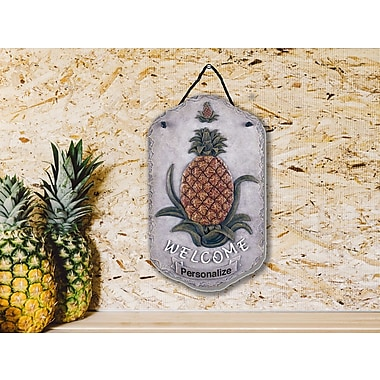 TrendyDecor4U Welcome Pineapple, slates, porch, garden,-13