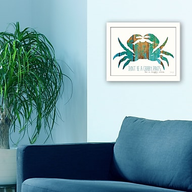 TrendyDecor4U Don't be a Crabby Pants -16 x 12 Framed Print (MA2285-712W)