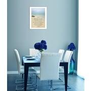 "TrendyDecor4U Sea Fever -8.5""x12.25"" Framed Print (ME37-712W)"