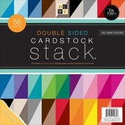 "DCWV Cardstock Stack Double-Sided 12""X12"" 58/Pkg-Textured, White Core, 20 Color/2-3 Each"