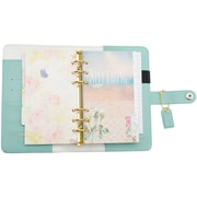 "Color Crush Faux Leather Personal Planner Kit 5.25""X8""-Light Teal"