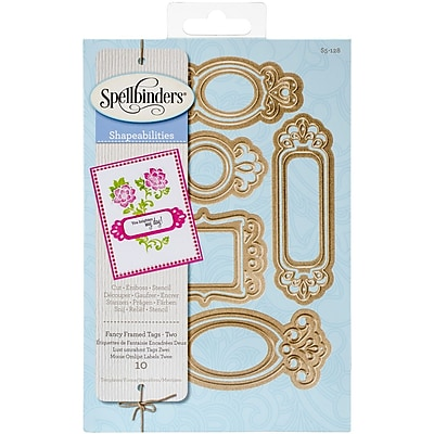Spellbinders Shapeabilities Dies-Fancy Framed Tags 2