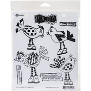 """Dyan Reaveley's Dylusions Cling Stamp Collections 8.5""""X7""""-Put A Bird On It"""