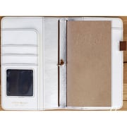 "Color Crush Faux Leather Travelers' Planner 5.75""X8""-Natural"