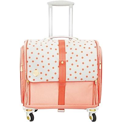 360 Crafter's Rolling Bag-Blush Dot 24139957