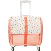 360 Crafter's Rolling Bag-Blush Dot
