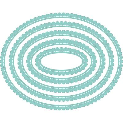 Kaisercraft Decorative Die-Nest Scallop Stitched Ovals 1.25