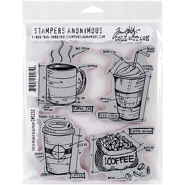 Tim holtz cling stamps 7x85 fresh brewed blueprint staples tim holtz cling stamps 7 malvernweather Images