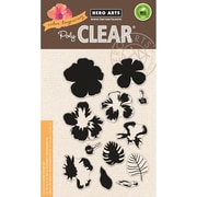 """Hero Arts Clear Stamps 4""""X6""""-Color Layering Hibiscus"""