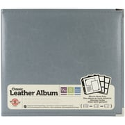 "We R Classic Leather D-Ring Album 12""X12""-Charcoal"