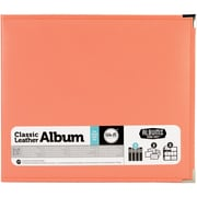 """We R Classic Leather D-Ring Album 12""""X12""""-Coral"""
