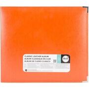 """We R Classic Leather D-Ring Album 12""""X12""""-Orange Soda"""